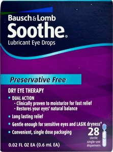 Bausch & Lomb Soothe Long Lasting Lubricant Eye Drops